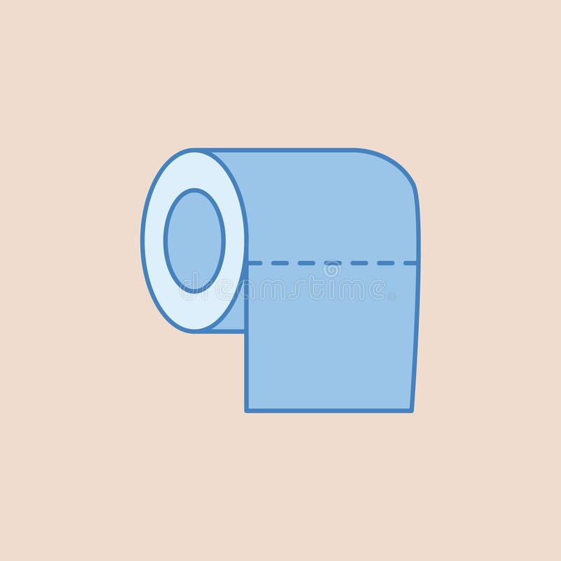 Toilet tissue paper roll icon. Element of bathroom for mobile concept and web apps illustration. Field outline icon for website de. Sign and development, app stock illustration