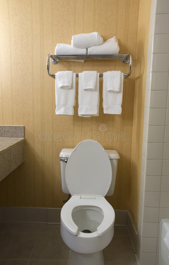Toilet and towel rack stock image image of rack clean 2266947 for What do hotels use to clean bathrooms