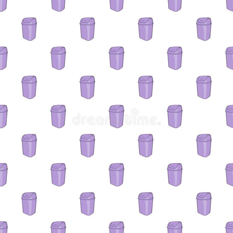 Toilet trash pattern, cartoon style. Toilet trash pattern. Cartoon illustration of toilet trash vector pattern for web stock illustration