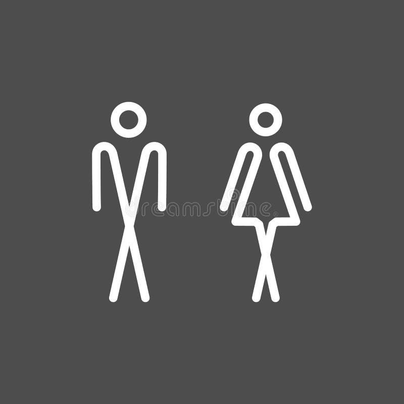 Toilet WC door wall plate. vector illustration