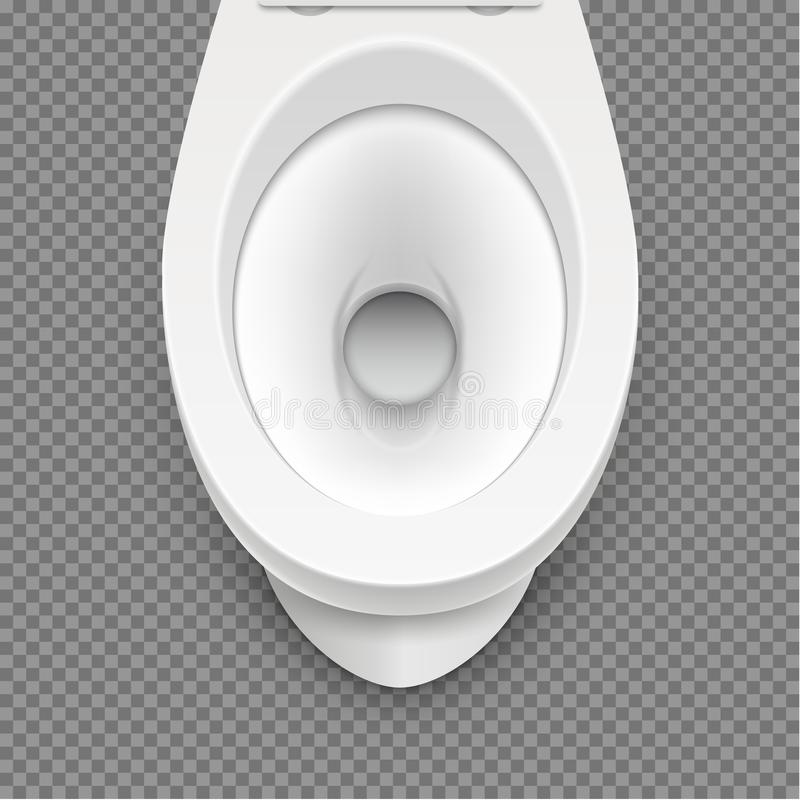 Toilet white mockup illustration isolated. Toilet in clean bathroom. Vector home hygiene.  vector illustration