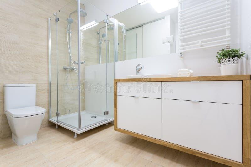 Toiletbinnenland in traditioneel ontwerp royalty-vrije stock afbeelding