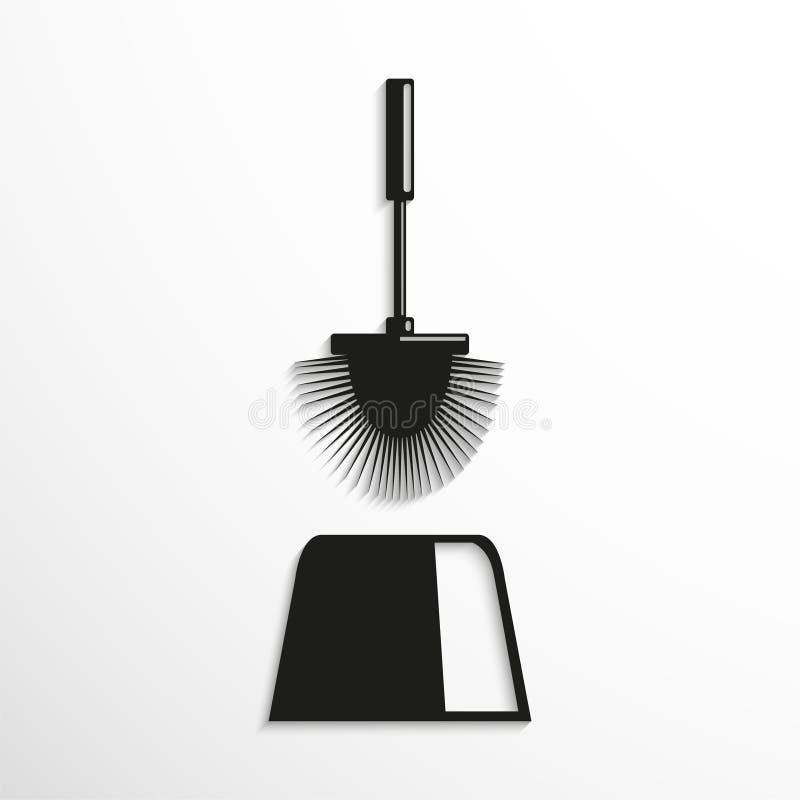 Toiletborstel Symbool Het pictogram van toestellen vector illustratie