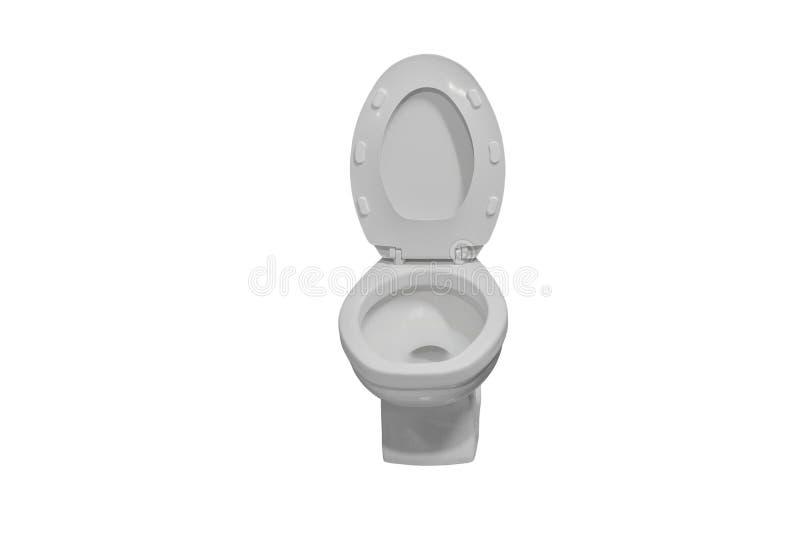 Toiletkom op witte achtergrond wordt geïsoleerd, en het knippen weg die royalty-vrije stock foto