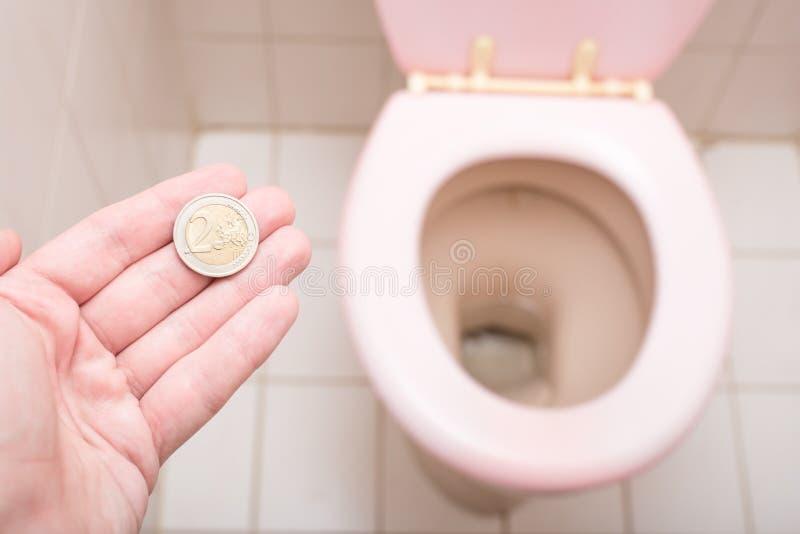 Toiletkosten stock foto's