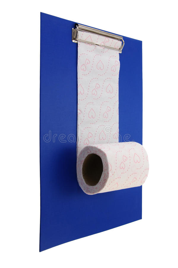 Download Toiletpaper And Clip Board. Royalty Free Stock Image - Image: 11200806