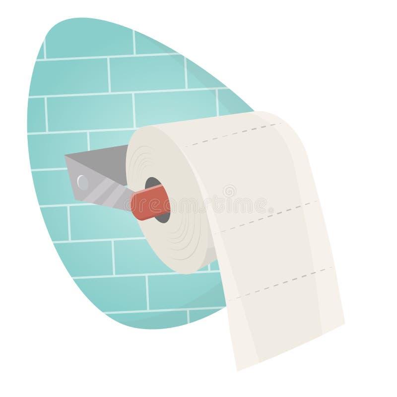 Toiletpapier vector illustratie