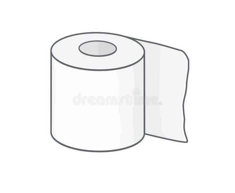 Toiletpapier royalty-vrije illustratie