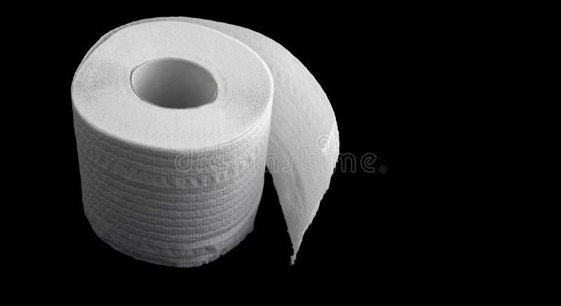 Download Toiletpapier Op De Zwarte Achtergrond Stock Afbeelding - Afbeelding bestaande uit vergemakkelijken, zwart: 296969
