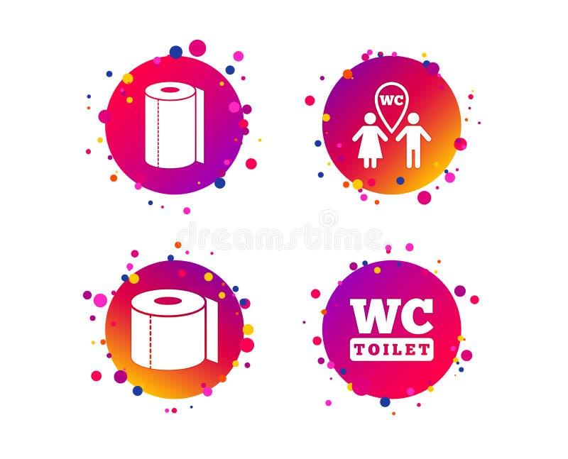 Toiletpapierpictogrammen royalty-vrije illustratie