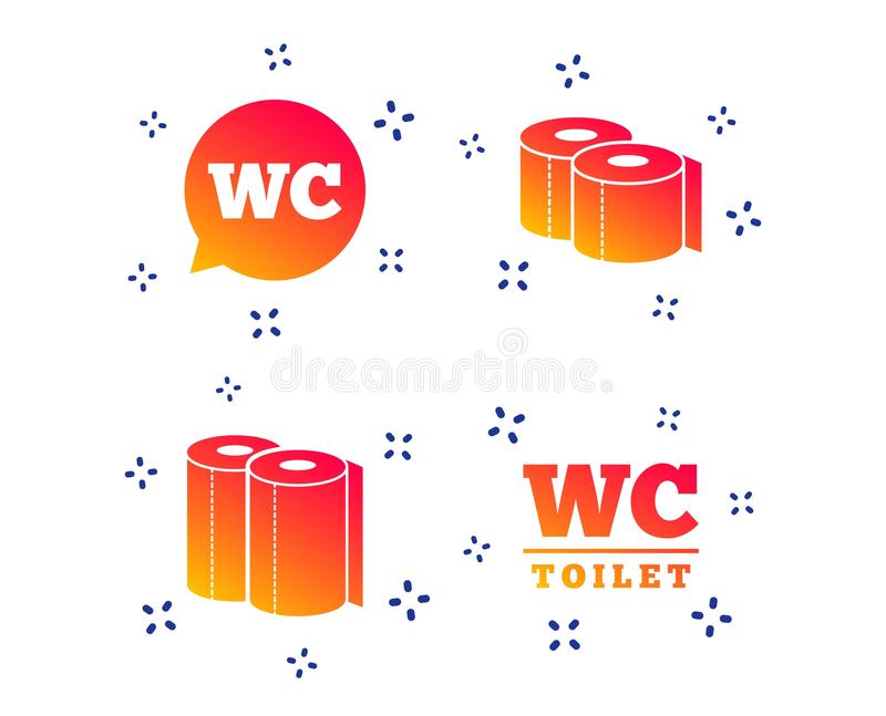 Toiletpapierpictogrammen Mijnheren en damesruimte Vector stock illustratie