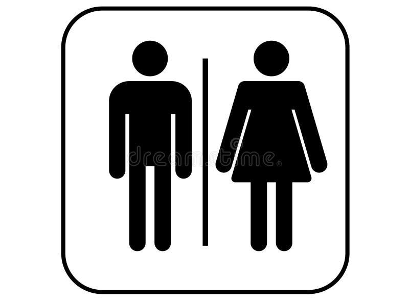 Toiletpictogram - mannen en vrouwen het tekenvector van WC stock foto's