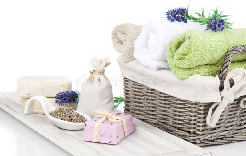 Toiletries για τη χαλάρωση στοκ εικόνες