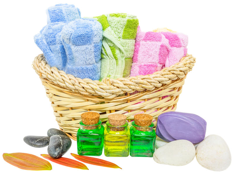 Toiletries Set II. Toiletries set over white background royalty free stock image