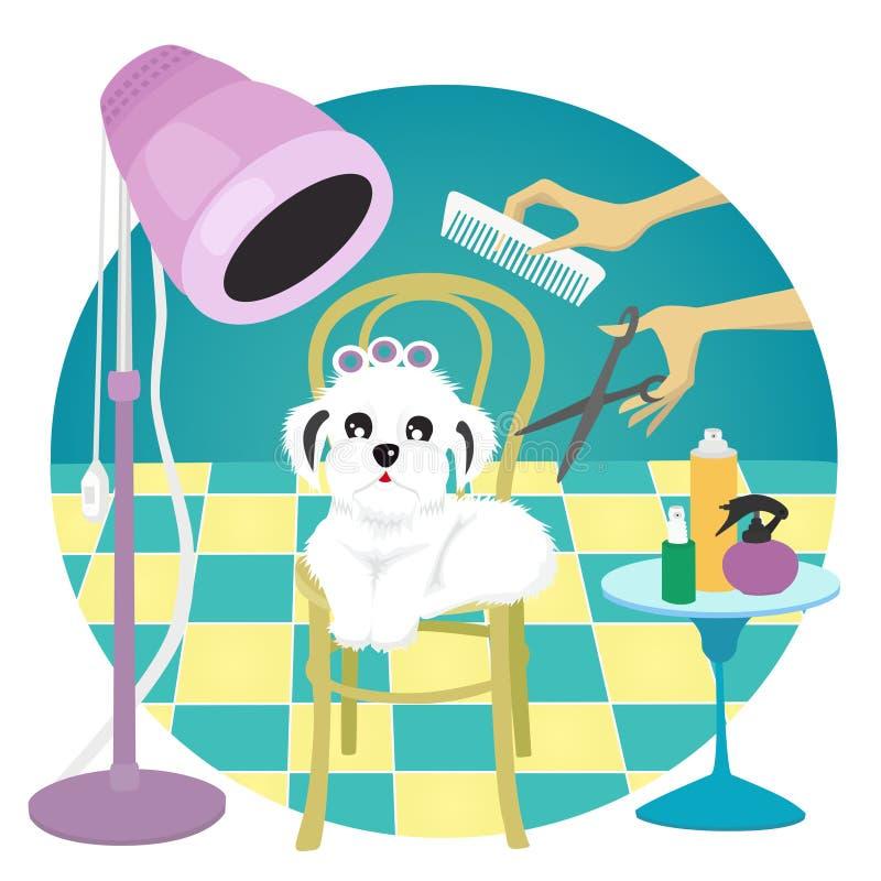 Toilettage de chien illustration de vecteur