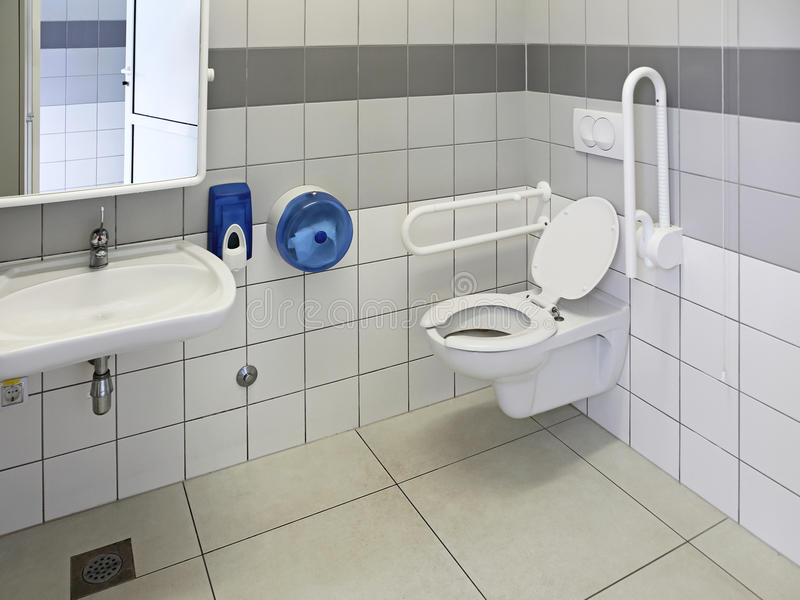 Toilette accessible photographie stock