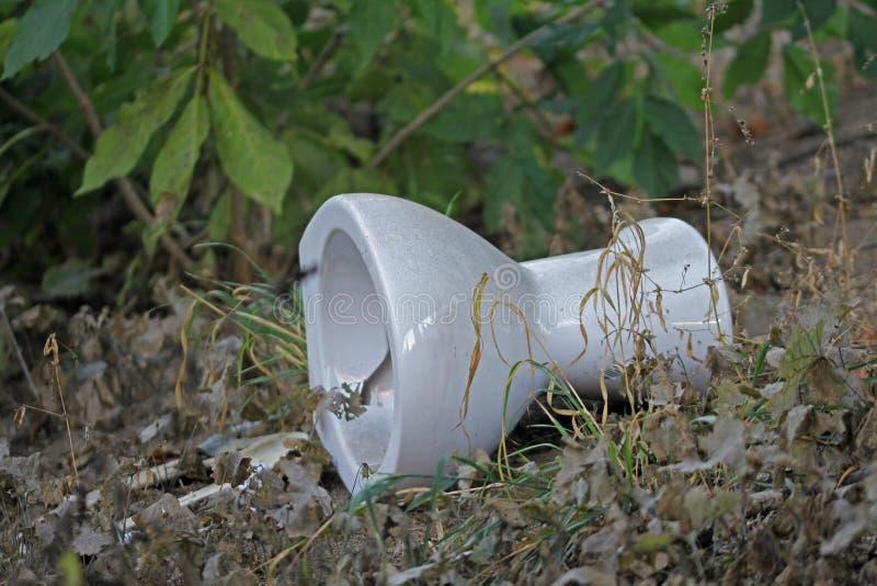 Toilette, arricciamenti ambientali sul bordo della strada immagini stock