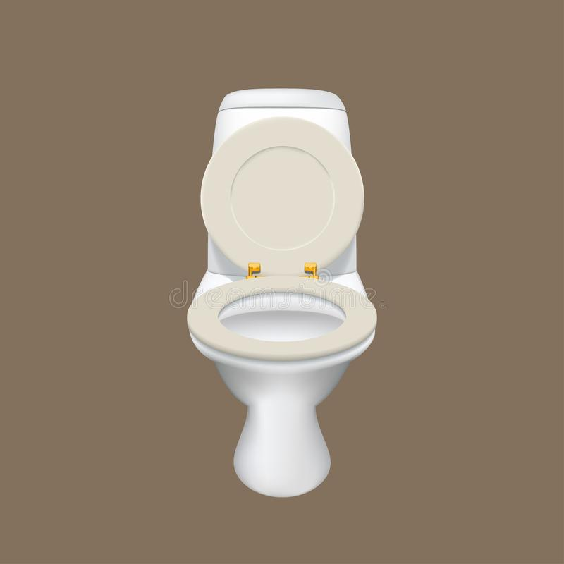 Toilette bianca realistica illustrazione vettoriale
