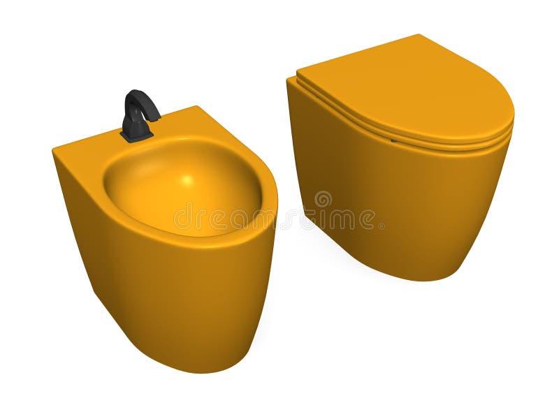 Toilette + Bidet vektor abbildung