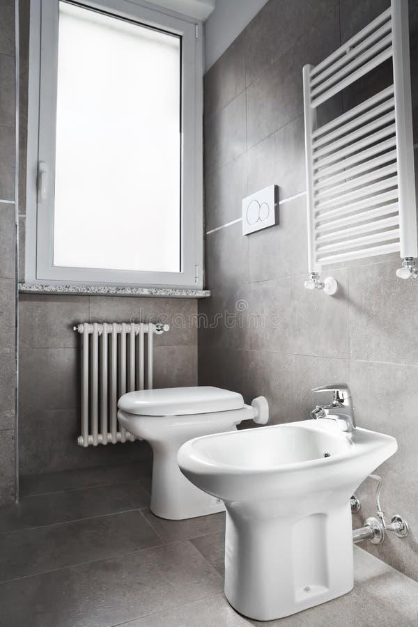 Toilette blanc photographie stock libre de droits