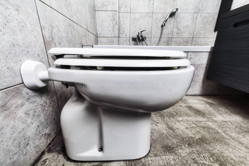 Toilette bottensikt arkivbild