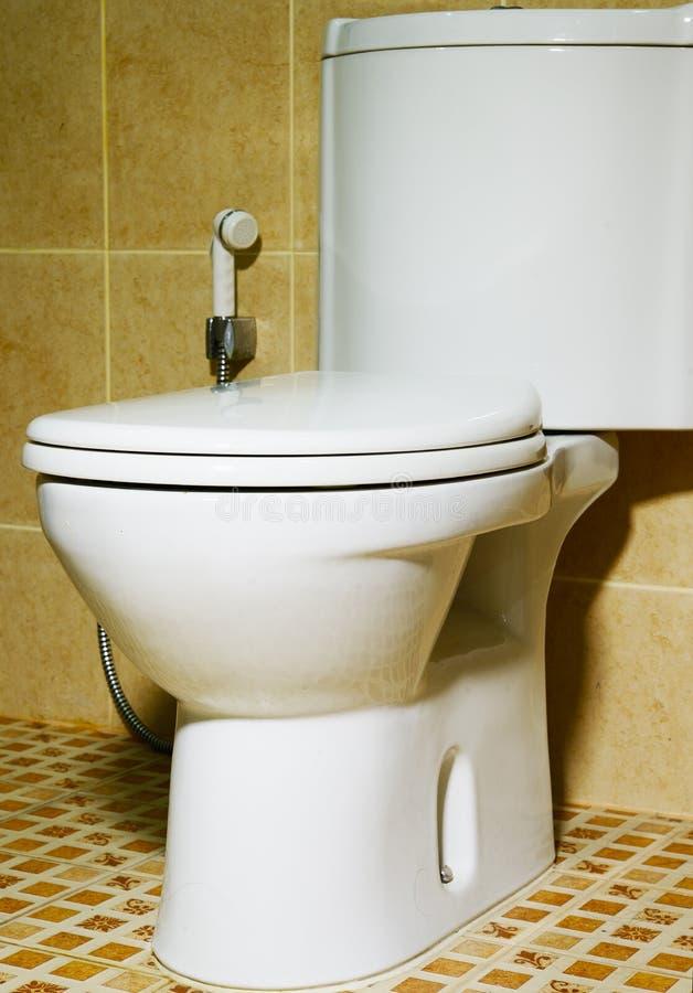 Toilette dans la salle de bains photographie stock libre de droits