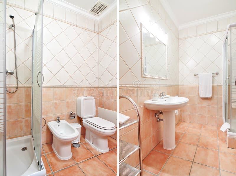 toilette de luxe confortable avec des couleurs chaudes photo stock image du architecture. Black Bedroom Furniture Sets. Home Design Ideas