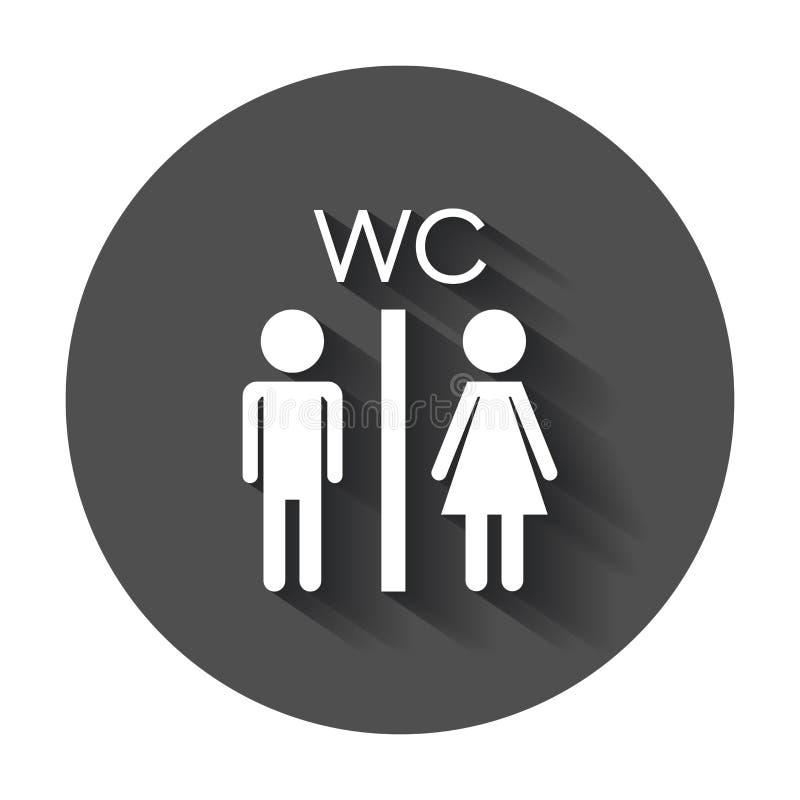 Toilette de vecteur, icône de toilettes illustration libre de droits