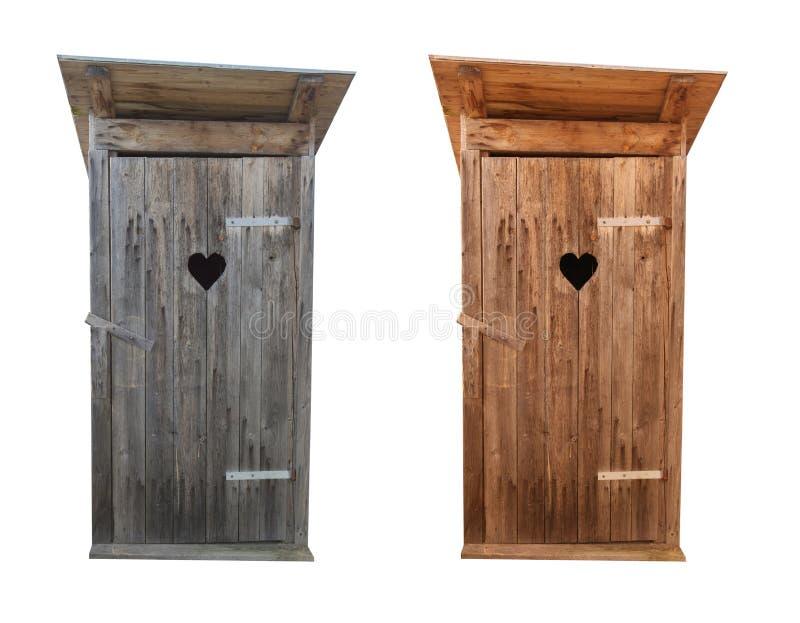 Toilette di legno isolate su bianco immagini stock libere da diritti