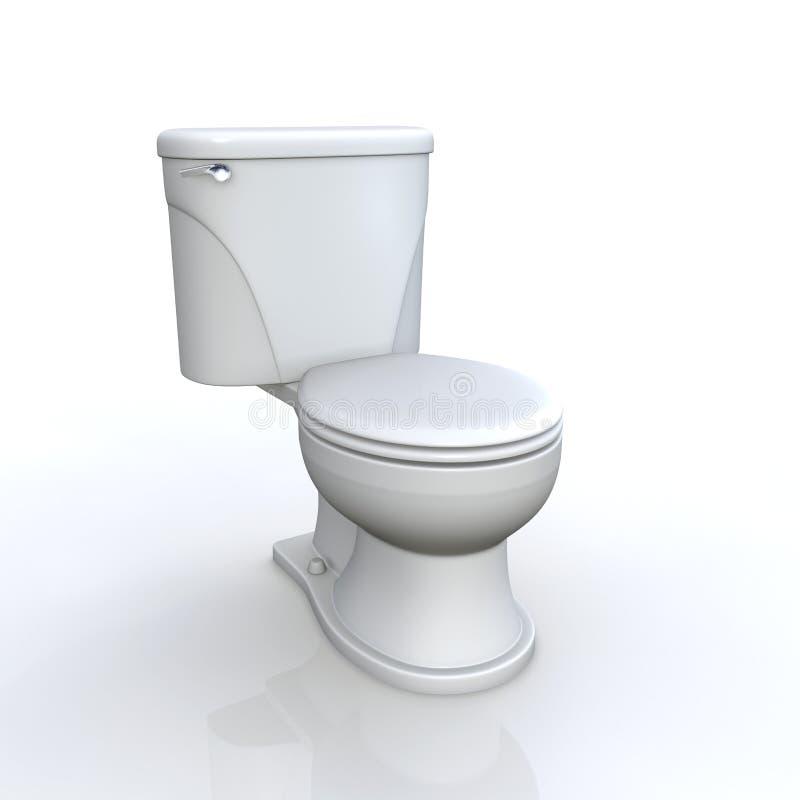 Toilette e cisterna illustrazione di stock