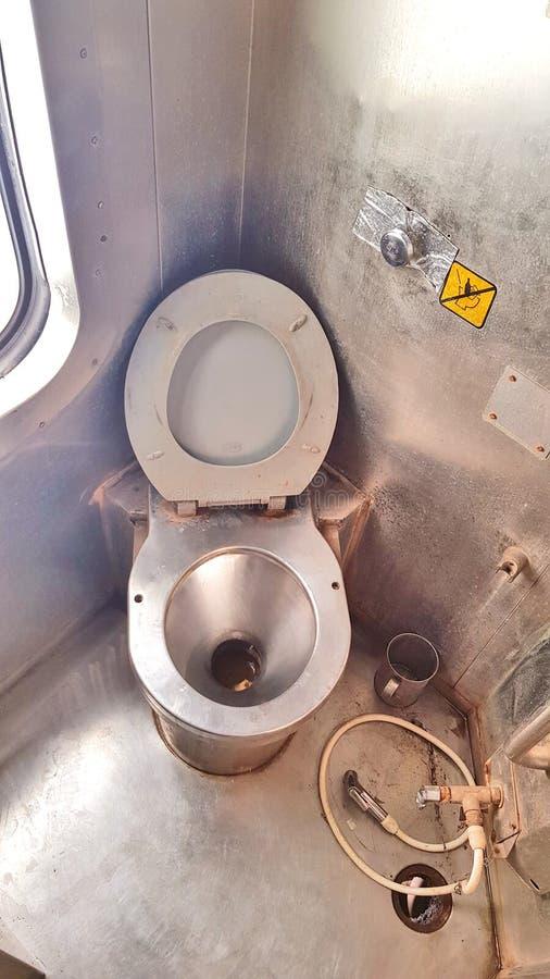 Toilette eines Zugs lizenzfreies stockfoto