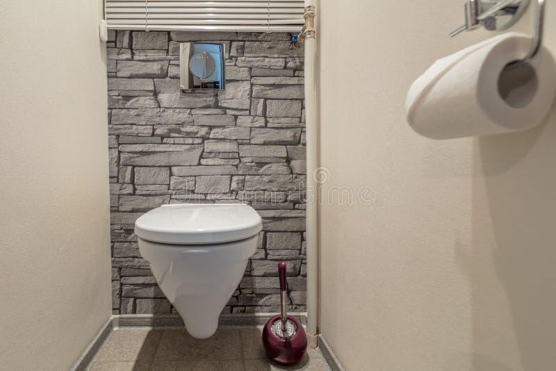 Toilette mit Toilette lizenzfreie stockfotografie
