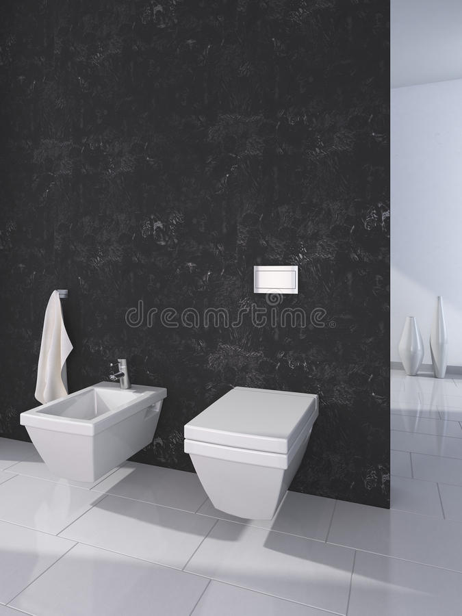 Toilette moderne illustration libre de droits