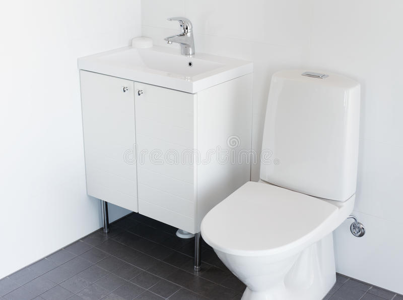 Toilette neuve image stock