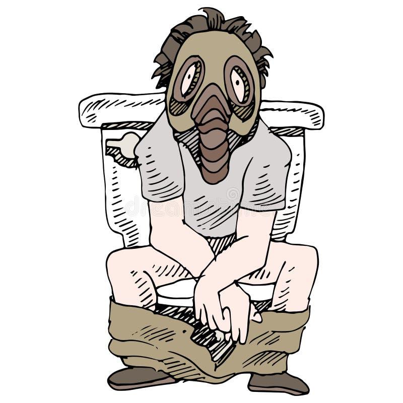 Toilette puante illustration stock