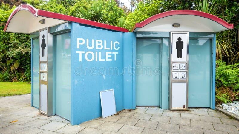 toilette pubblica in Nuova Zelanda immagini stock