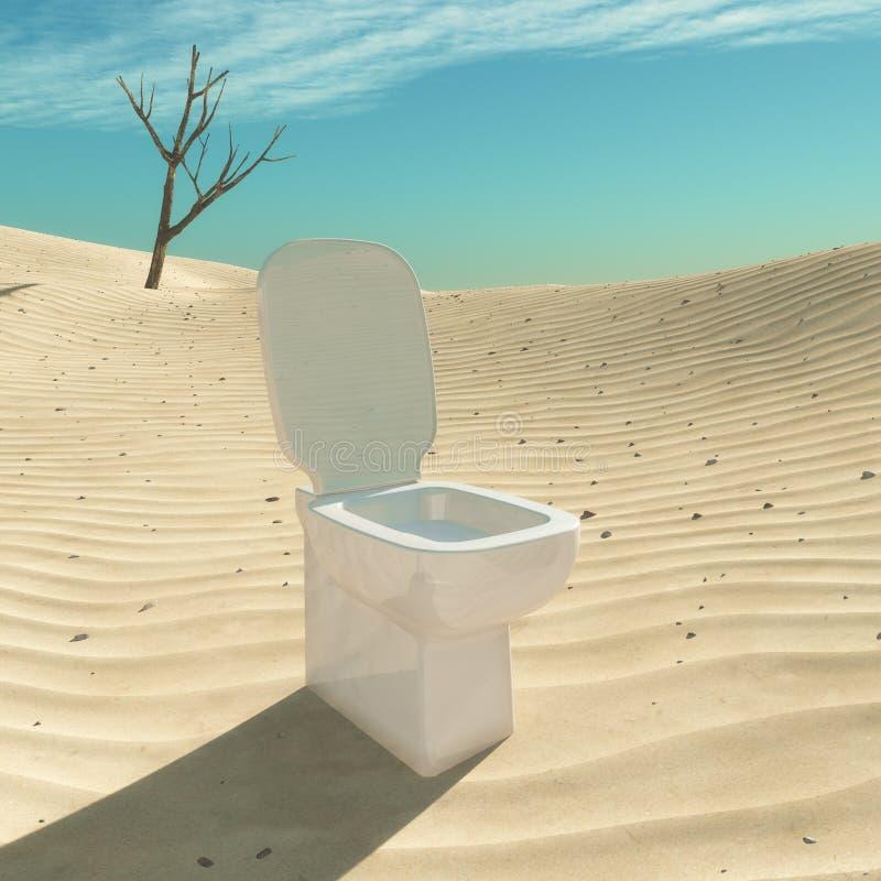 Toilette situata nel deserto royalty illustrazione gratis