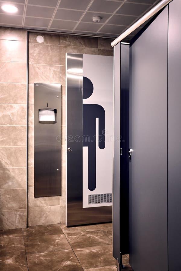 Toilette van WC van de mensen` s ruimte stock foto's