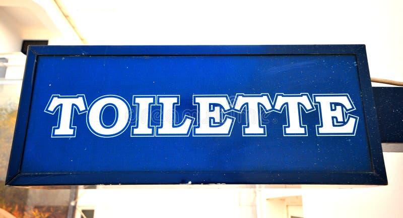 Toilette Zeichen stockfotografie
