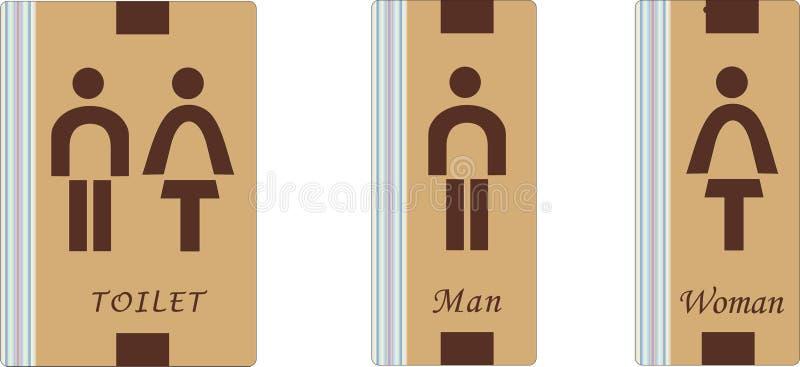 Toiletteken stock afbeeldingen