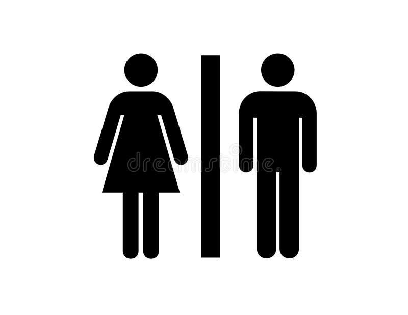 Toiletten stock illustratie