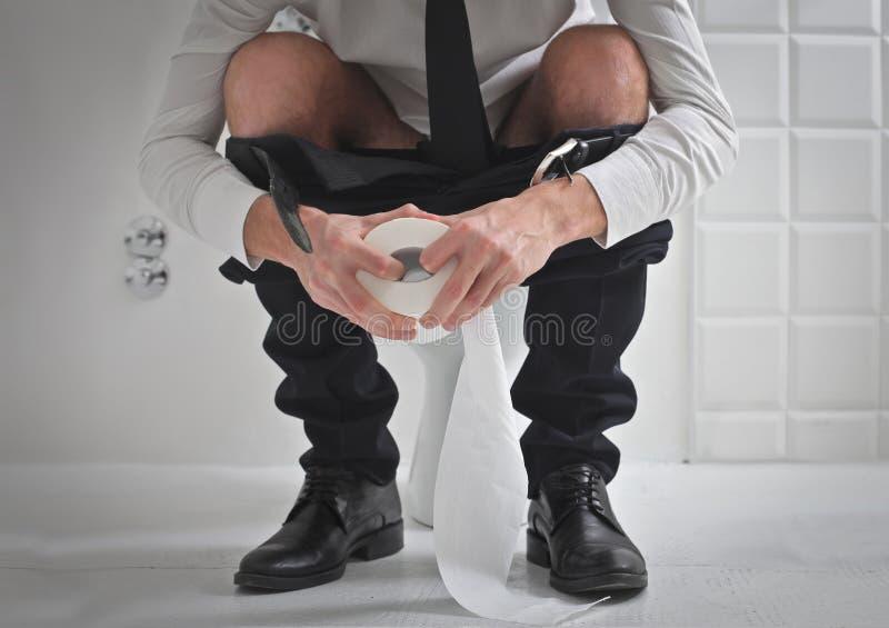 Toiletten-Rolle stockfotografie