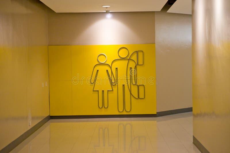 Toiletten- und Telefonzeichen lizenzfreies stockbild