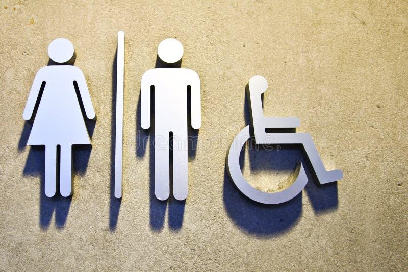 Toiletten-Zeichen stockfotografie