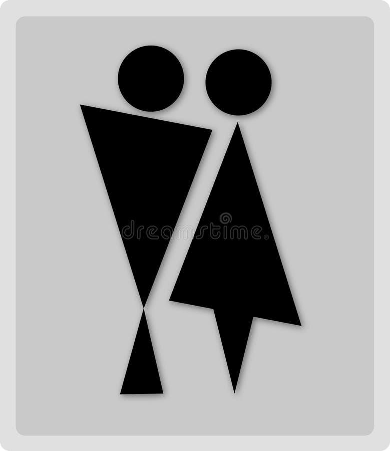 Toiletten-Zeichen lizenzfreie abbildung