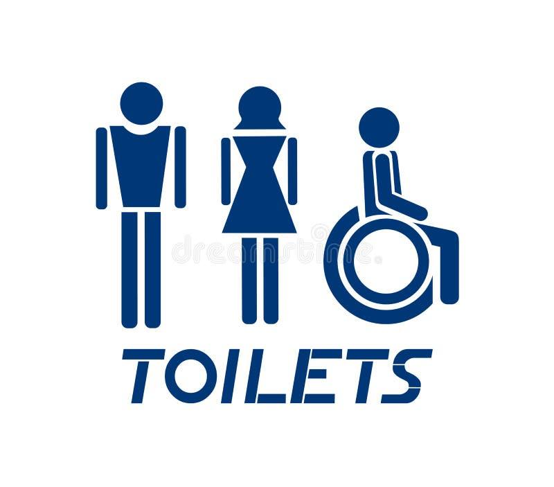 Toilettenanzeichen vektor abbildung