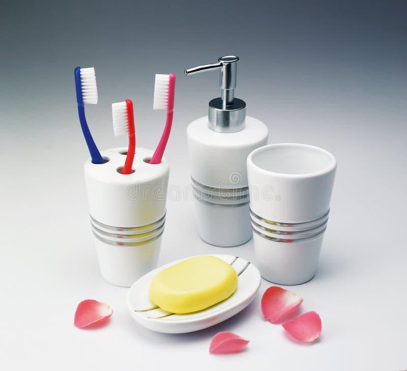 Toilettenartikel Kit Set stockbilder