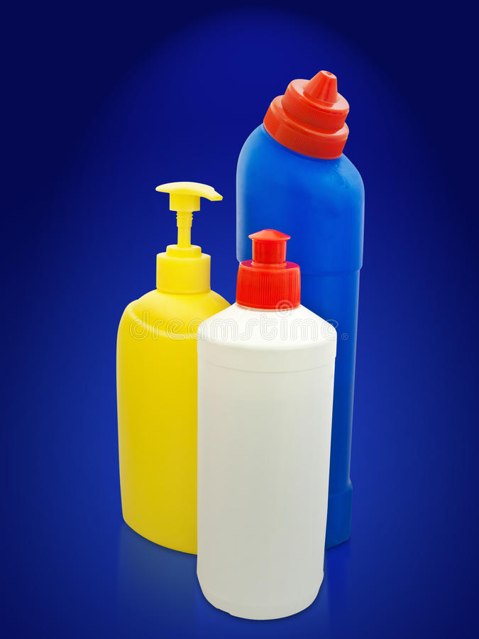 Toilettenartikelflaschen stockfoto