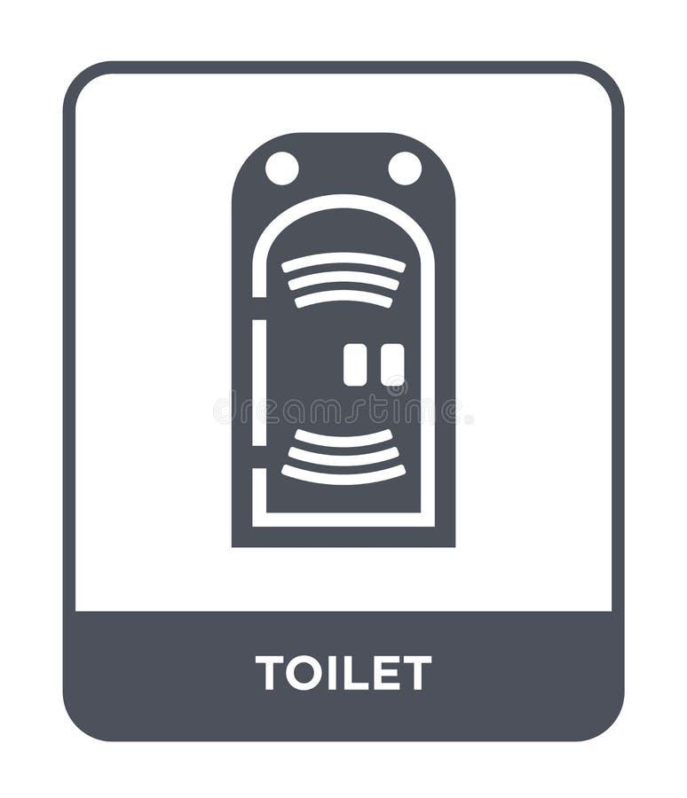 Toilettenikone in der modischen Entwurfsart Toilettenikone lokalisiert auf weißem Hintergrund einfaches und modernes flaches Symb vektor abbildung