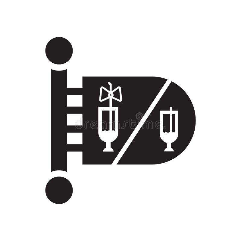 Toilettenikonenvektor lokalisiert auf weißem Hintergrund, Toilettenzeichen, Feierpiktogramme stock abbildung